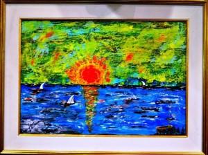 Titolo opera Vele a Margarita III° Premio Pittura 2014 Manifestazioni Superga ed Il Centenario